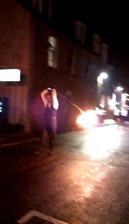 Stonehaven, UK: Two Fireball walkers