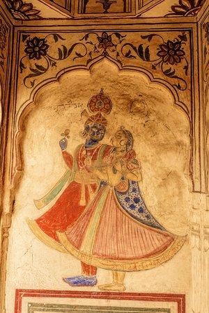 Shekhawati, الهند: Fresco details