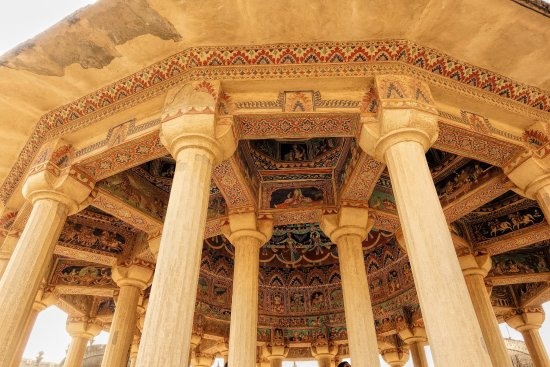 Shekhawati, India: Ceiling frescoes