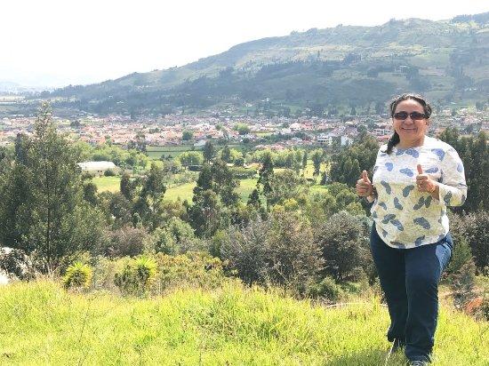 Tibasosa: Es delicioso salir al mirador a tomar el sol y una cuantas foticos...