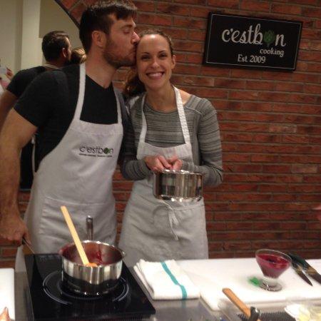 C'est Bon Cooking: Preparing the desserts