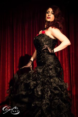 Principal Enchantress - Trixie Blue, our producer of all Prohibition burlesque shows!