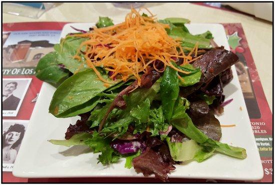 "San Antonio Winery: ""Small"" green salad."