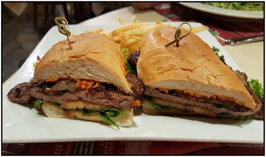 San Antonio Winery: Excellent prime rib sandwich.