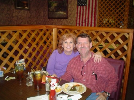 Rockwood, TN: Junior's My wife and I having lunch back in May 2006.