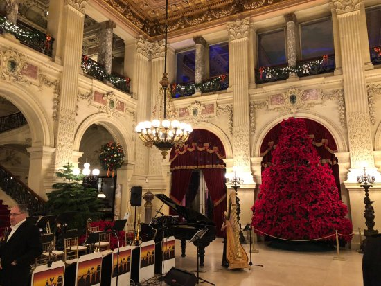 Newport Mansions: The Breakers Ballroom at Christmastime