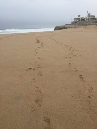 Areia Branca, Portugal: Just our footprints