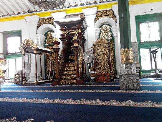 Great Mosque of Palembang: tempat imam dan mimbar khotib masjid agung palembang