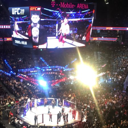 View from my seat - Picture of T-Mobile Arena, Las Vegas - TripAdvisor