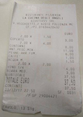 Μάρκε, Ιταλία: Scontrino