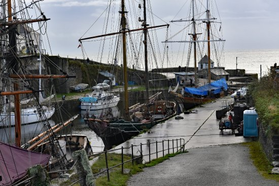 St Austell, UK: Tall Ships at rest,