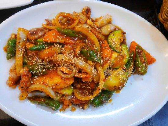 Nakji Bokkeum Korean Spicy Stir Fry Octopus With Vegetables