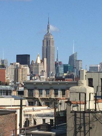 Prive: プリヴェの屋上。エンパイアステートビルディング、マンハッタンの風景。