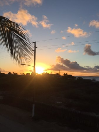 Ocean View Villas, Bonaire: Sunset from the balcony
