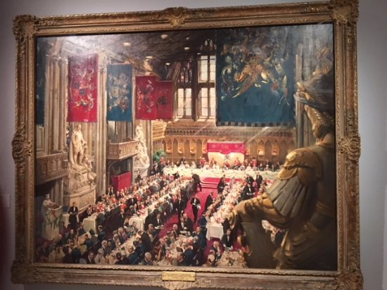 Kingston-upon-Hull, UK: Terence Cuneo painting of the Queen's Coronation Lunch 1953