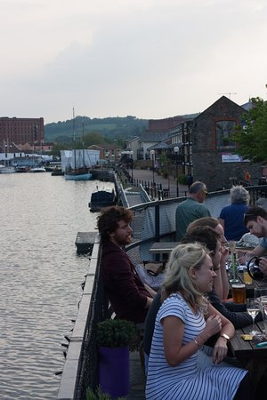 Grain Barge: A balmy evening on the top deck