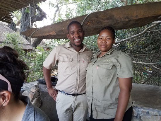 Jock Safari Lodge: Fitzpatrick's at Jock staff: Blessing (L) and Thandeka (R)