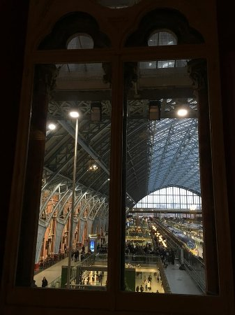 St. Pancras Renaissance Hotel London: A View of the Platforms from the Hotel