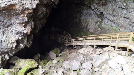 Боргарнес, Исландия: Vidgelmir, the biggest cave in Iceland. It is located in Borgarfjord in west part of Iceland,