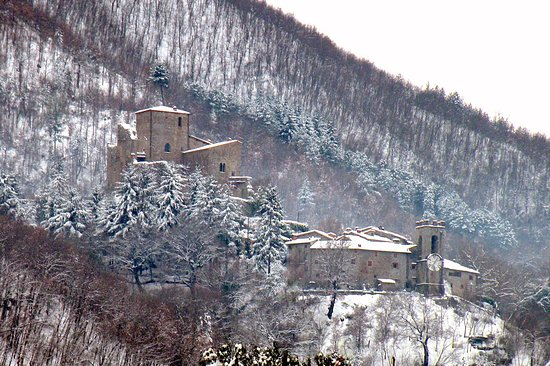 Castel San Niccolo'  -  winter view