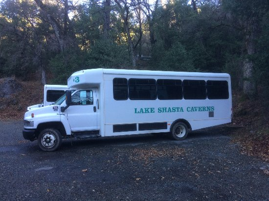 Lake Shasta Caverns: shuttle ride to caverns (this is after the boat ride)