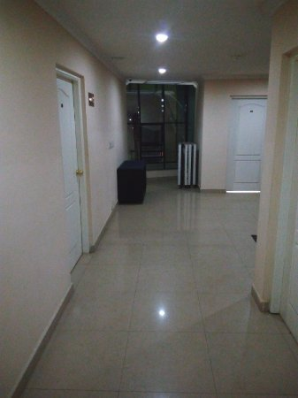 Bellmount Resorts: The corridor, looking towards the main road side