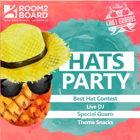Room2Board Hostel and Surf School: Abril Party!