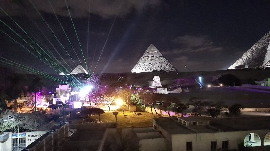 Amazing view of Pyramids