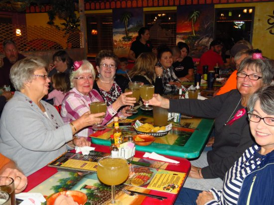 Fredericktown, MO: Friends and families enjoying a birthday dinner for others