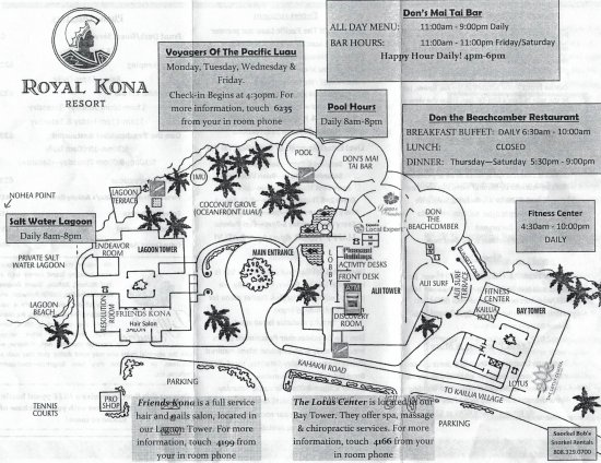 Map of hotel grounds and facilities - Picture of Royal Kona Resort Kona Hotel Map on new york hotel map, kailua-kona map, san jose hotel map, philadelphia hotel map, bristol hotel map, honolulu hotel map, hawaii hotel map, orlando hotel map, oahu hotel map, waikoloa map, eugene hotel map, nashville hotel map, chicago hotel map, easton hotel map, providence hotel map, seattle hotel map, giant hotel map, tulsa hotel map, miami hotel map, rochester hotel map,