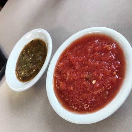 Imlay City, MI: Taco salad, burrito, salsa and bean dip with chips