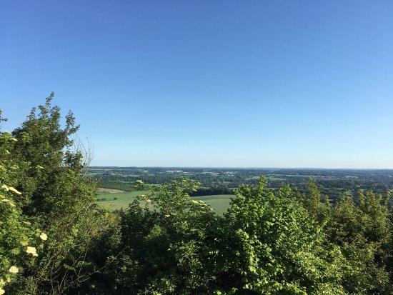 Thurnham, UK: View towards Pilgrims Way