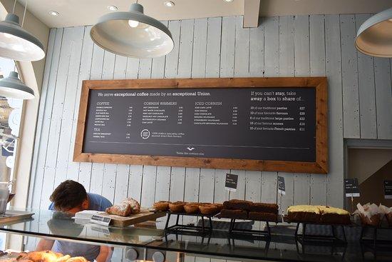The Cornish Bakery: Menu Board