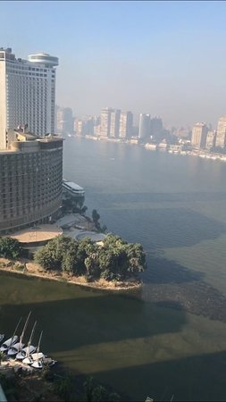 Four Seasons Hotel Cairo at Nile Plaza: View of the Nile from the room