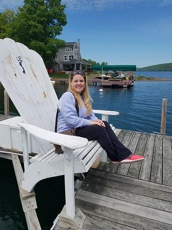 พอตต์สวิลล์, เพนซิลเวเนีย: Sitting on the dock after our wonderful meal