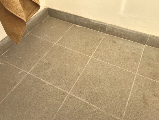 New Tiles Still Covered In Adhesive And Grout Picture Of Spring