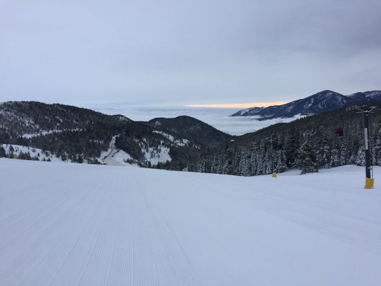 Red Lodge Mountain : Freshly groomed corduroy in the morning on Miami Beach