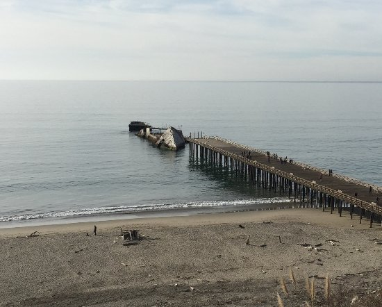 Aptos, CA: The cement boat, Seacliff. Come see it before it's gone!