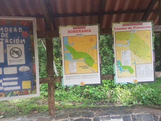 Soberania National Park: Trail maps at entrance