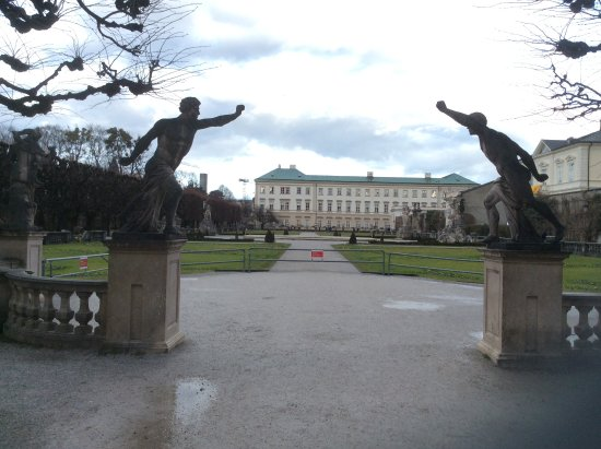 Mirabell Palace and Gardens: Entry to the lovely formal gardens, winter time.