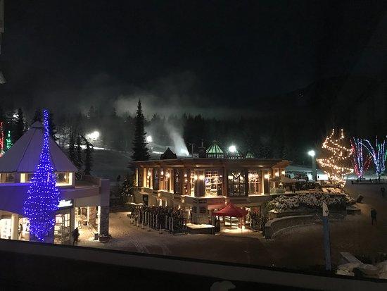 Le Chamois: Blackcomb at night (Dec 2017)