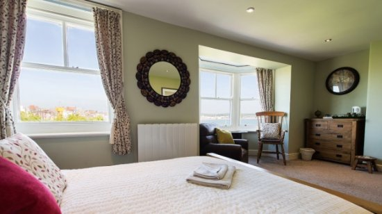 The Lantana: Room 5 — with a beautiful view over Weymouth beach.