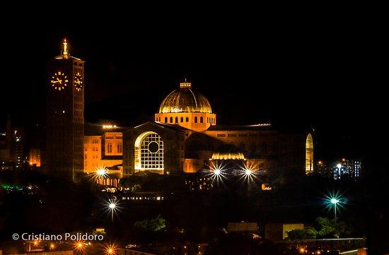 National Sanctuary Of Our Lady Of Aparecida: Vista Noturna, Da Lateral Da Basílica!