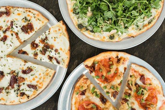 Rexburg, ID: Our three signature pizzas: Idaho Russet, Fig Tree, and The Fresco