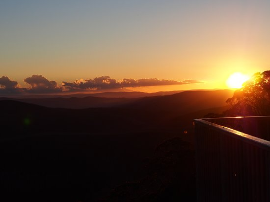 Mount Hotham, Australia: Sunset from Apartment Three (one bedroom apartment)