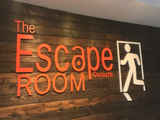 The Escape Room Corinth: Lobby Sign