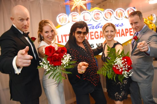 Elvis Wedding And The Little Vegas Chapel Sign Picture Of The