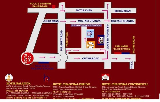 Hotel Chanchal Deluxe: Map