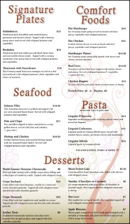 Eganville, Canadá: Menu - Updated Jan 2018