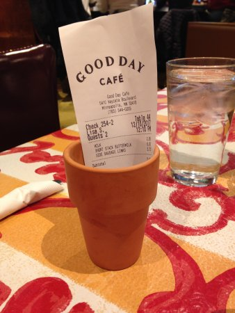 Golden Valley, MN: Receipt (with pen) delivered in a cute little planter